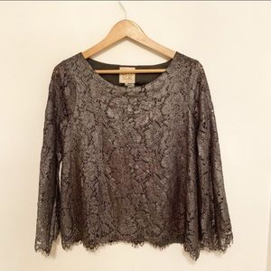 Chaser vintage Metallic Lace Top